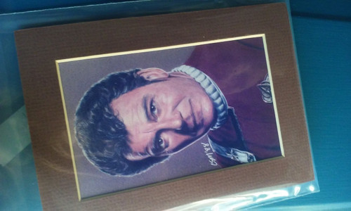 Art print of Captain Kirk 1988 signed by artist STAR TREK TOS