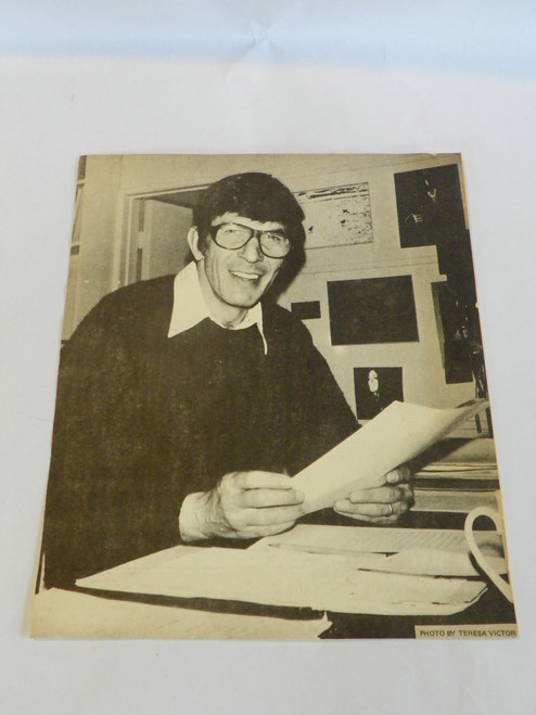Photo print of Leonard Nimoy at desk STAR TREK TOS by Teresa Victor