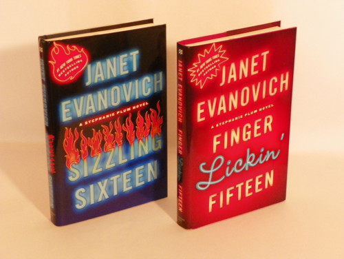 Set of two Firsts: Finger Lickin' Fifteen and Sizzling Sixteen JANET EVANOVICH