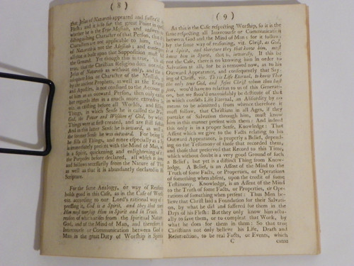 1731 FIRST Some Considerations Relating to the Present State of the Christian Religion, Part III