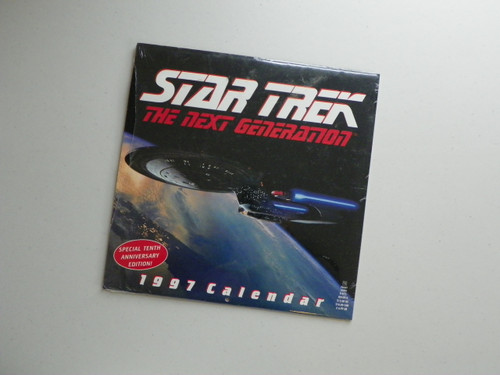 Star Trek The Next Generation 1997 Calendar - Tenth Anniversary edition