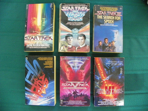 Star Trek: set of six movie titles