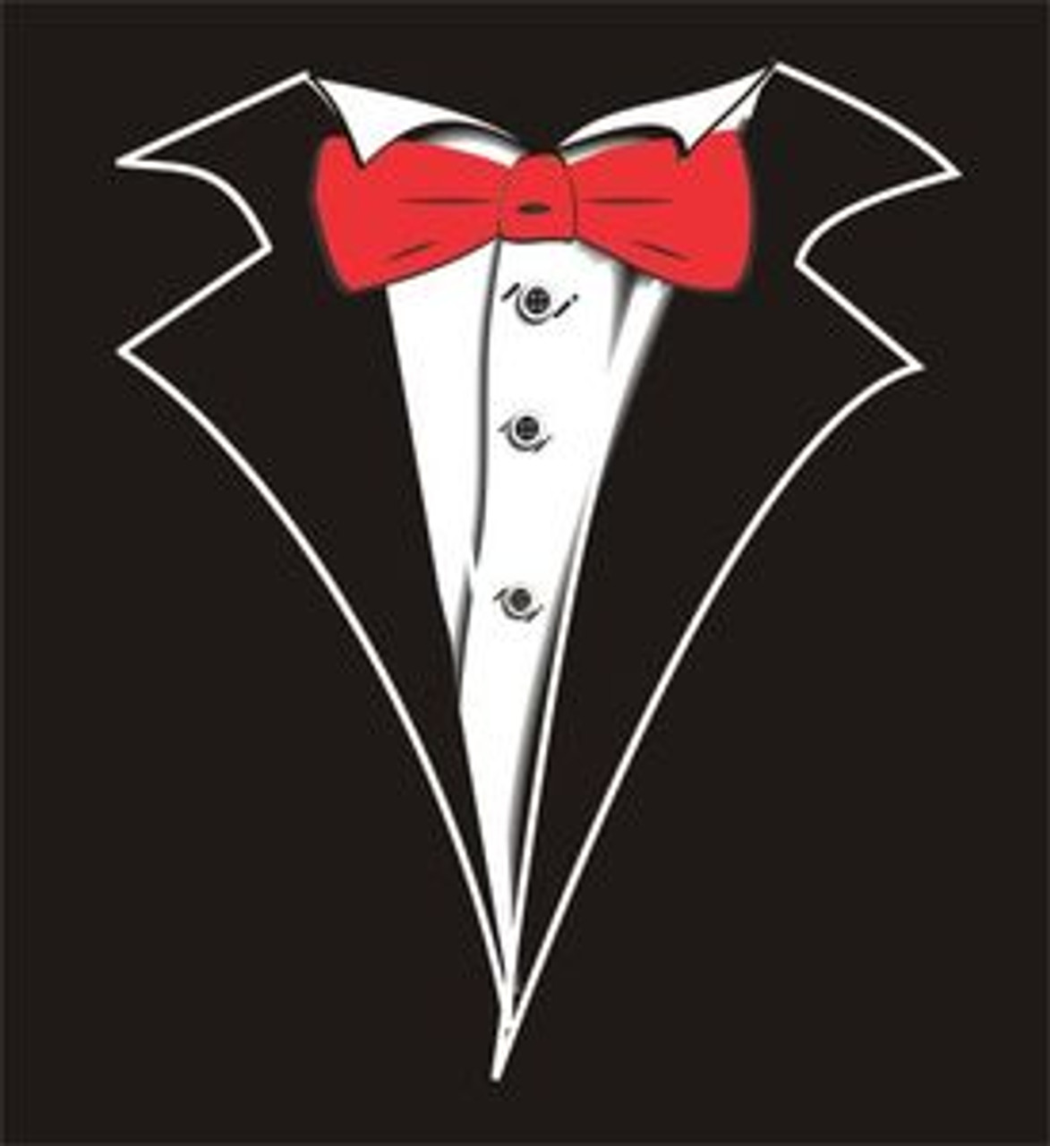 Kids Tuxedo T Shirt In Black With Red Tie No Carnation Shop Boys