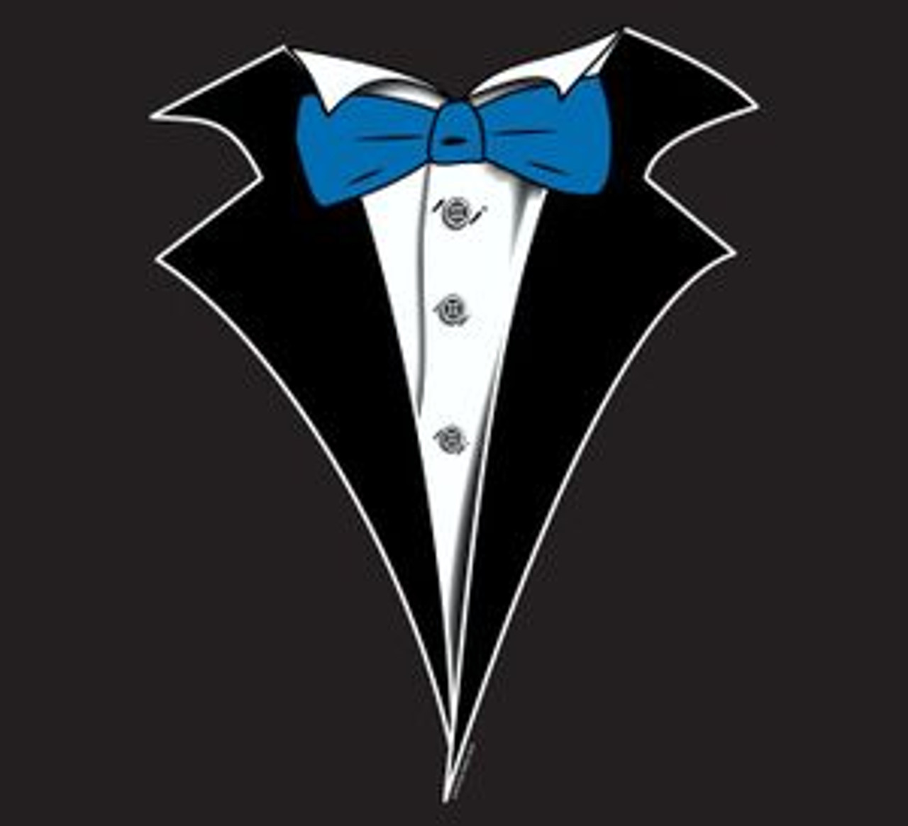Kids Tuxedo T Shirt In Black With Blue Tie No Carnation Shop