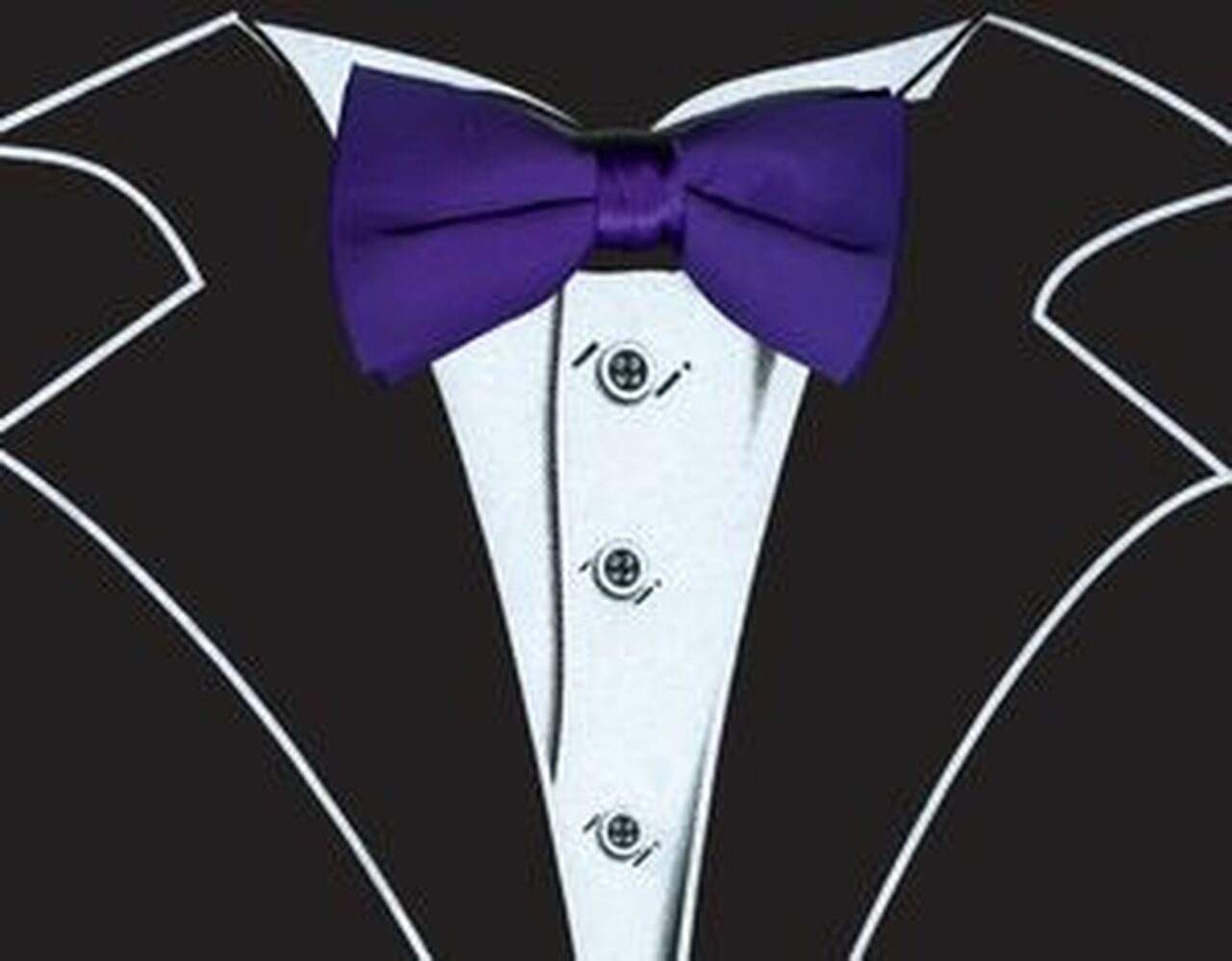 Tuxedo T Shirt In Black With Real Purple Bow Tie Shop Men S