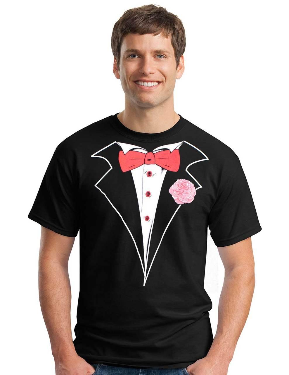 2b2ad4bdc Tuxedo T-shirt in Black - Classic   Shop Men's Tuxedo Tees