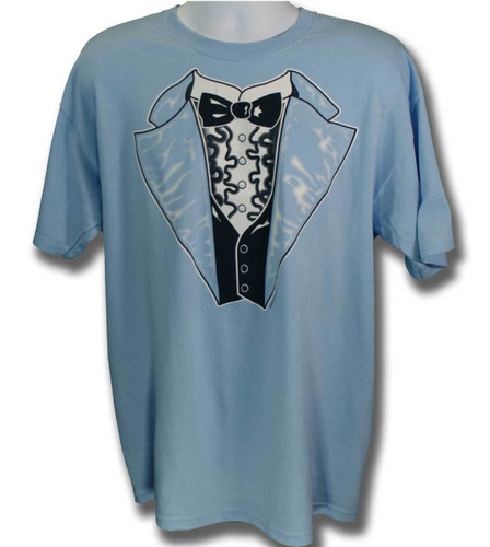 27eaf6968bc Overstock Retro Tuxedo T-shirt in Blue 50 50 (large only)