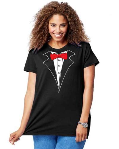 e6267cb7 Women's Tuxedo T-Shirts | Shop Tuxedo Tees for Women