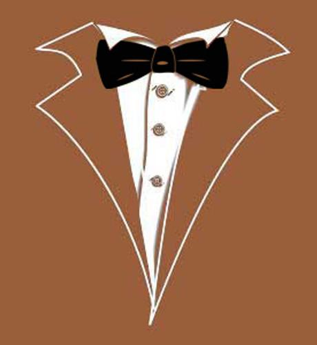 Tuxedo T Shirt In Black With Rainbow Tie Shop Men S Black Tuxedo