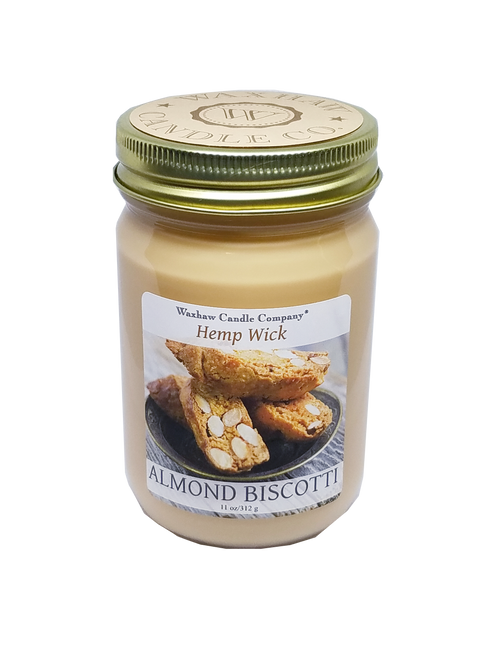 Almond Biscotti Candle - Hemp Wick