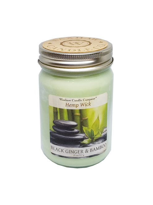 Black Ginger and Bamboo Candle - Hemp Wick