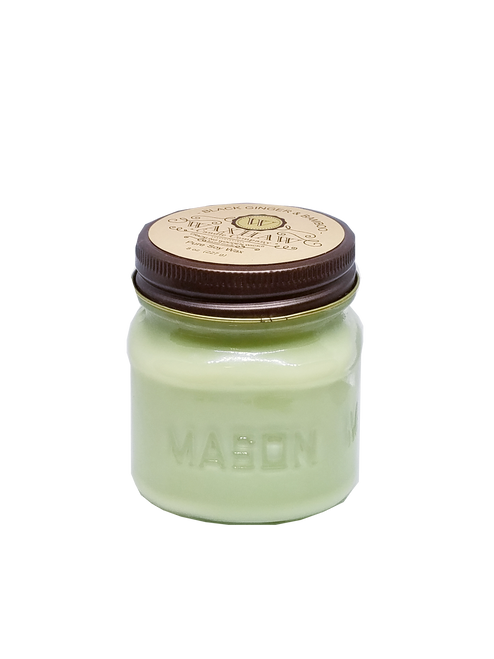 Black Ginger and Bamboo Mason Jar Candle