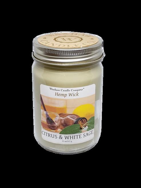 Citrus & White Sage Candle - Hemp Wick