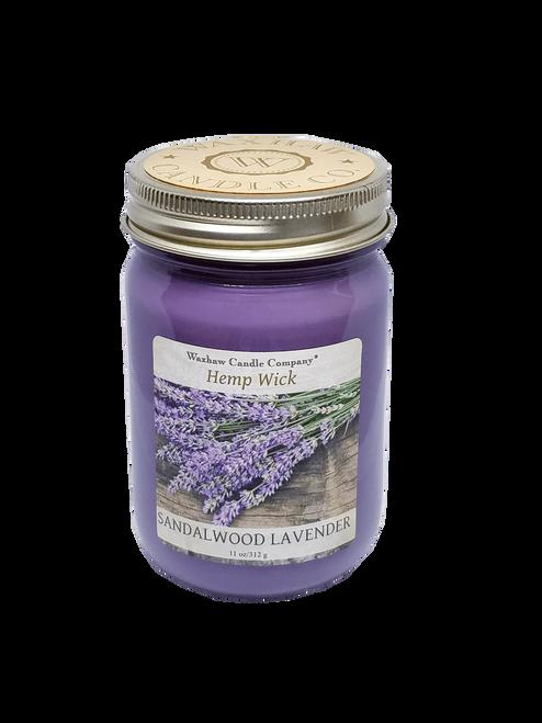 Sandalwood Lavender Candle - Hemp Wick
