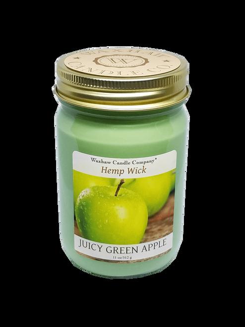 Juicy Green Apple Candle - Hemp Wick