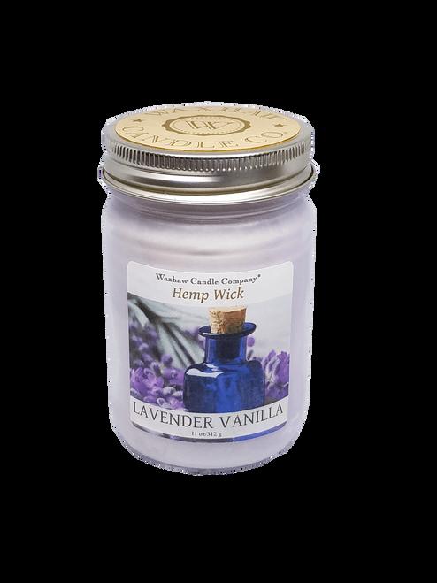Lavender Vanilla Candle - Hemp Wick