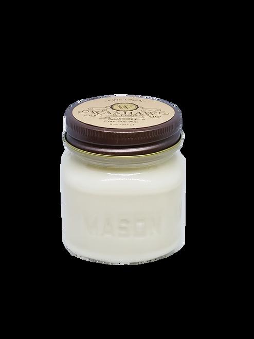 Fine Linen Mason Jar Candle
