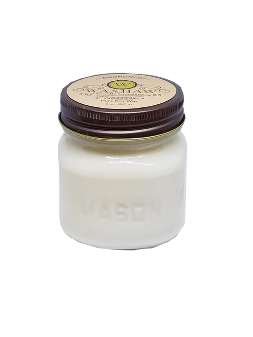 Lemongrass Mason Jar Candle