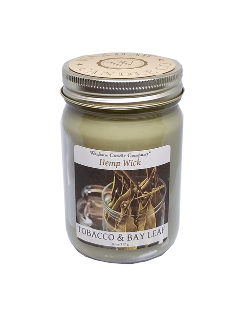 Tobacco and Bay Leaf Candle - Hemp Wick
