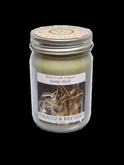 Tobacco and Bay Leaf Candle - Hemp Wick