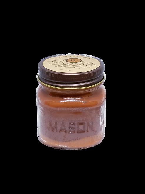 Tobacco & Caramel Mason Jar Candle