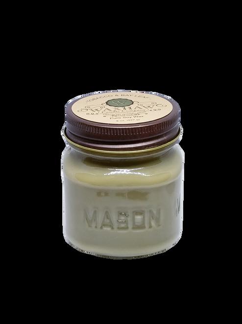 Tobacco and Bay Leaf Mason Jar Candle
