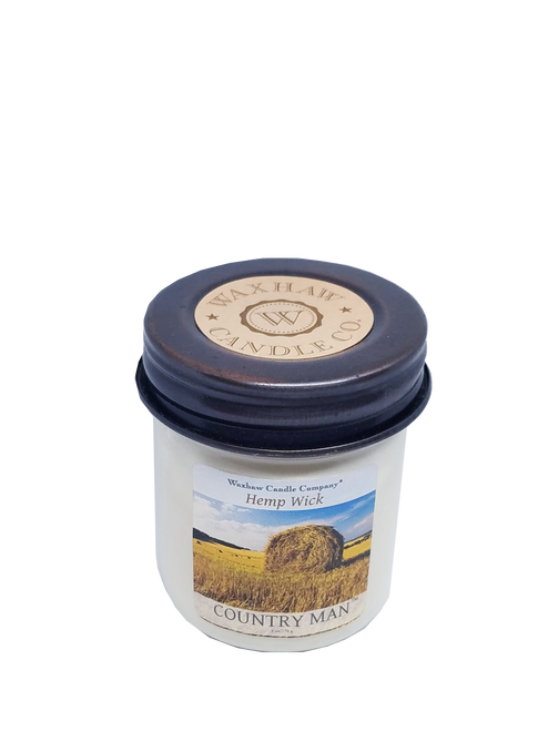 Country Man Hemp Wick Candle