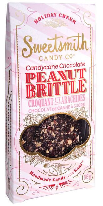 Candy Cane Chocolate Peanut Brittle