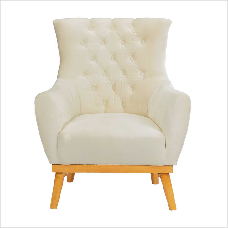 off white wing sofa 1 seat