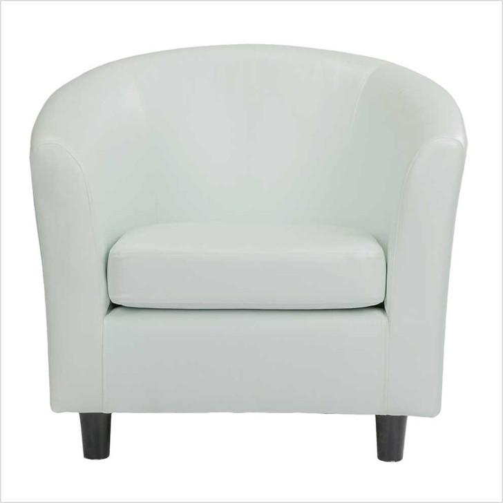 white leather curve sofa 1 seat