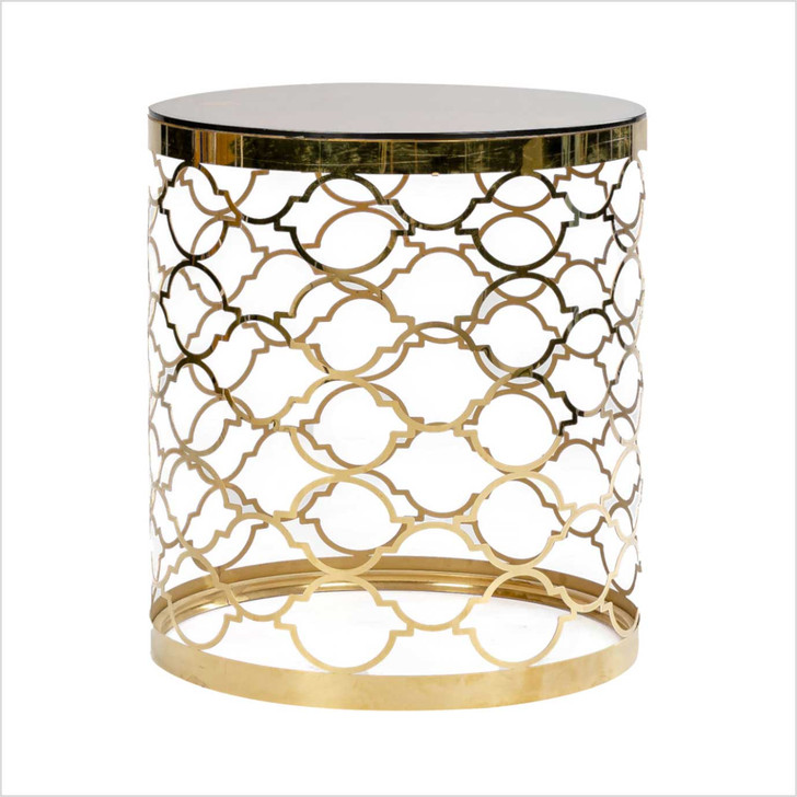 Coffee Table Glass Round Gold VIP
