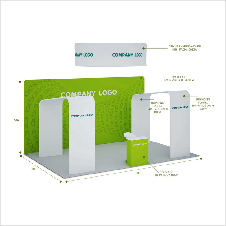 Gate Towers booth 300x600cm
