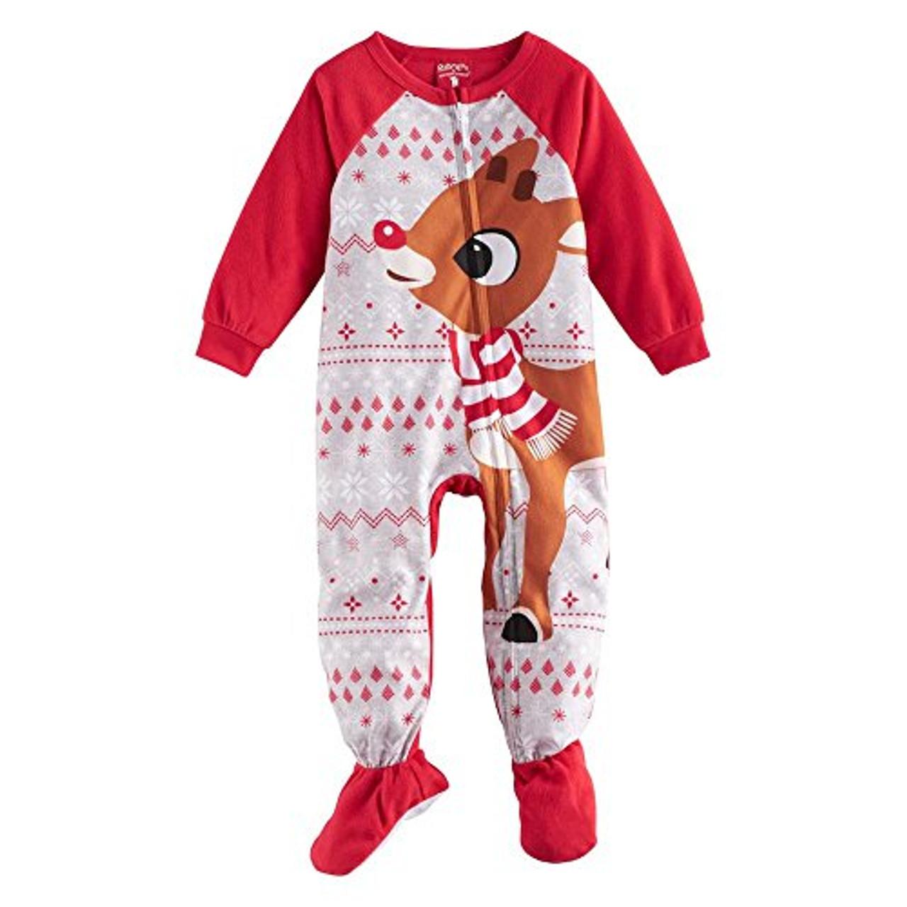 Rudolph The Red-Nosed Reindeer Christmas Fleece Blanket Pajama Sleeper