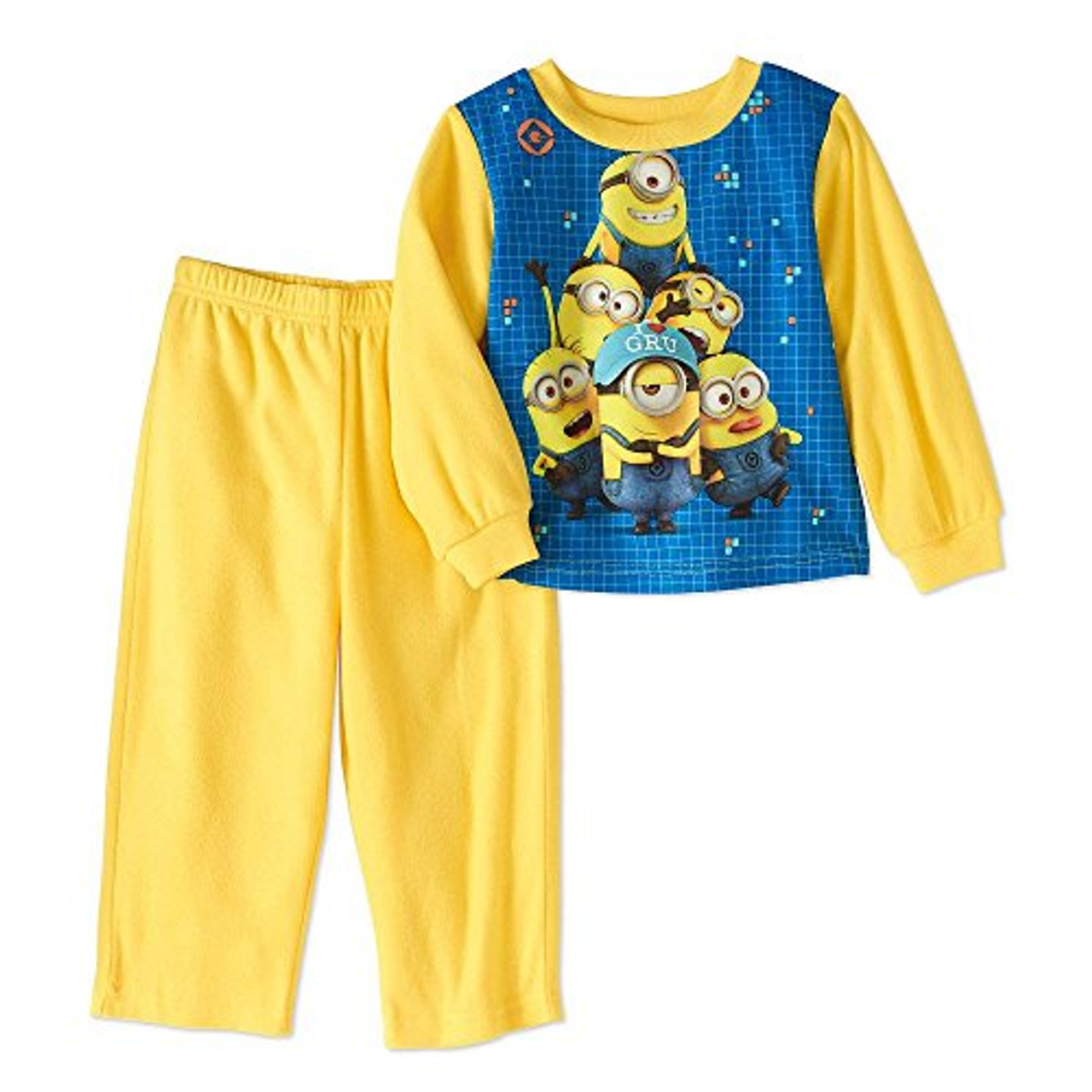 Despicable Me Boys Toddler I Love Gru Minions Flannel Pajama Set