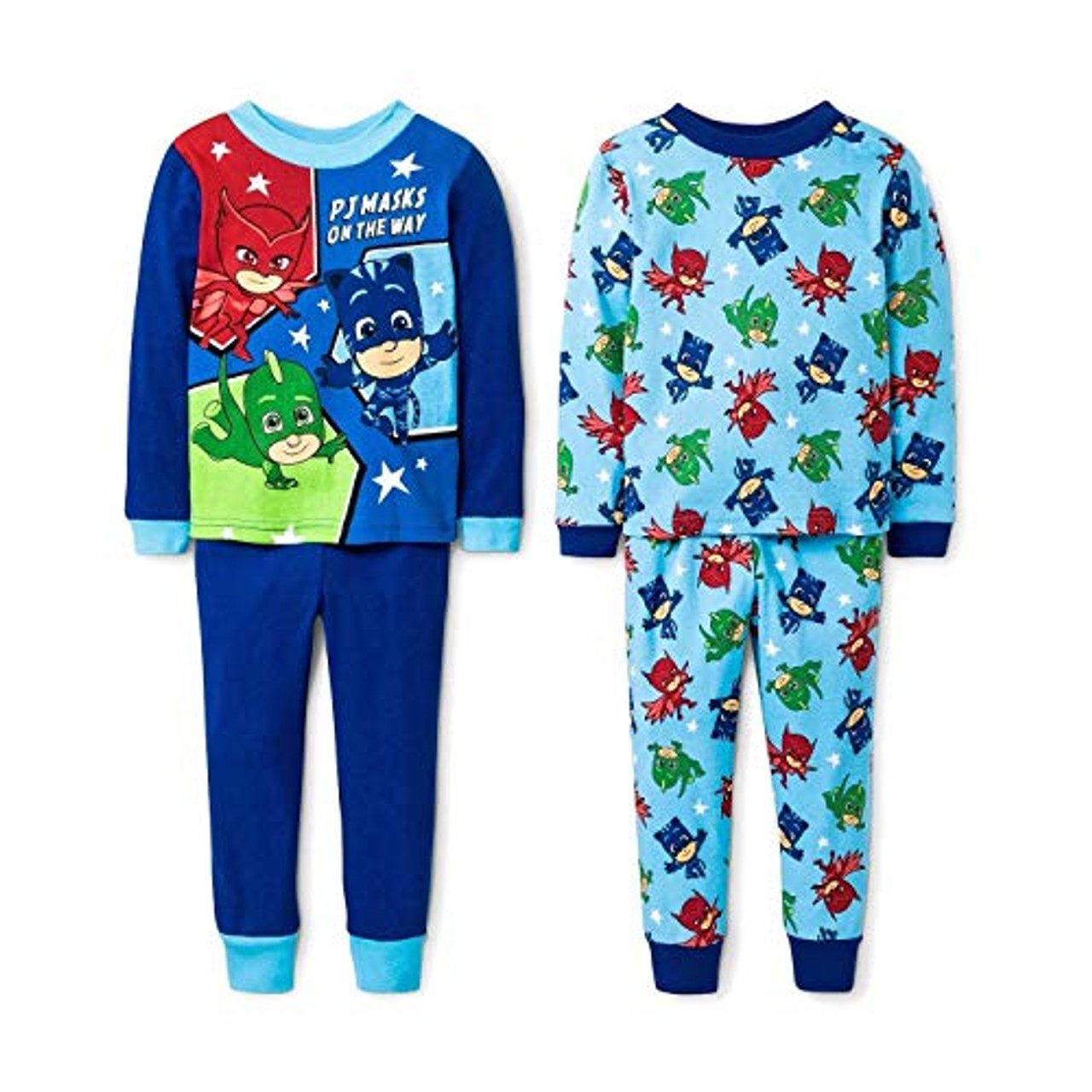 PJ Masks Little//Big Boys Four-Piece Pajama Set