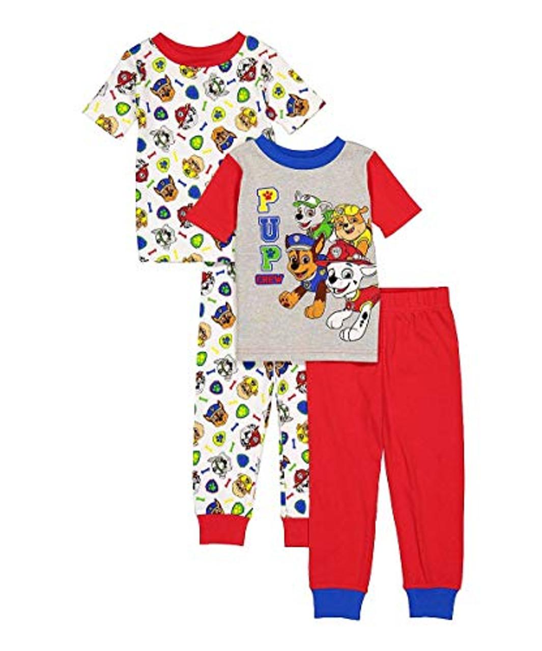 Paw Patrol Toddler Boy Ready for Action Shirt /& Shorts Pajamas New 4T
