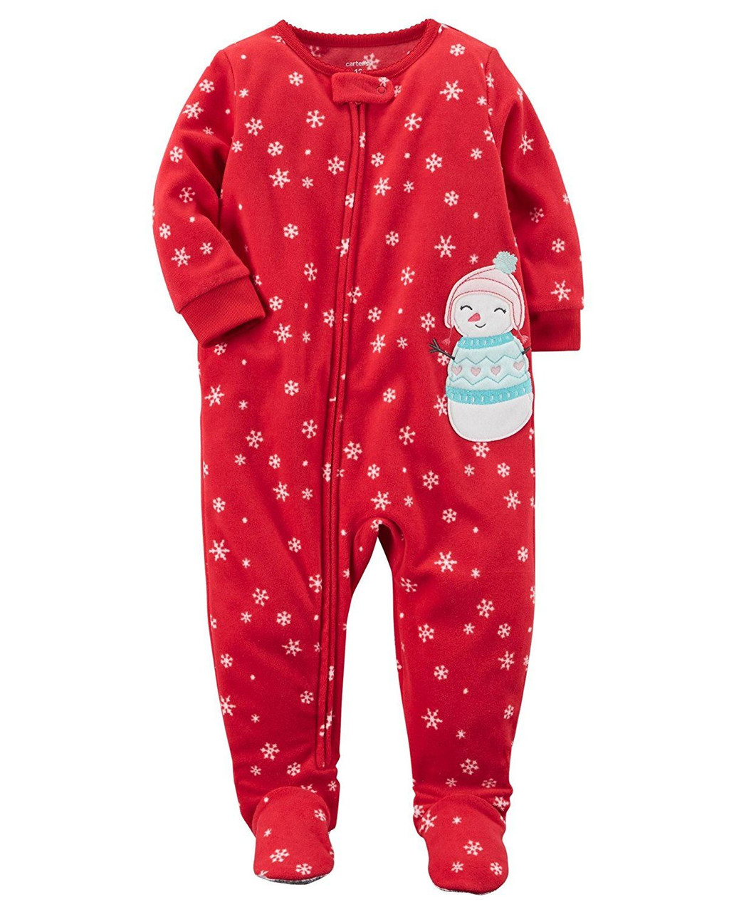Reindeer Fleece Footed Pajama Sleeper 5T Snowman Carter/'s Christmas Tree