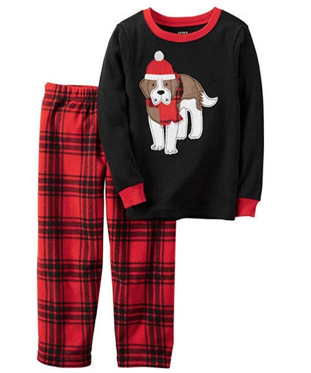 4T Carter/'s Boy/'s Green Santa and Snowman Fleece Pajama Sleeper