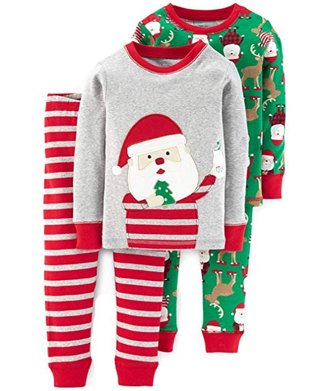Just One You//Carters Red Fleece Christmas//Holiday Long Sleeve Nightgown//Pajamas