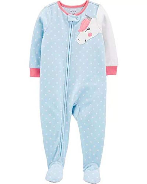 Carter/'s Girl/'s Toddler Mint Green Donut Fleece Blanket Pajama Sleeper