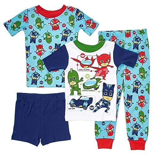 PJ Masks Toddler Boys On The Way 4-Piece Cotton Pajama Set