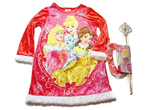 Disney Princess Cinderella Rapunzel and Belle Glittery Tulle Fancy Nightgown