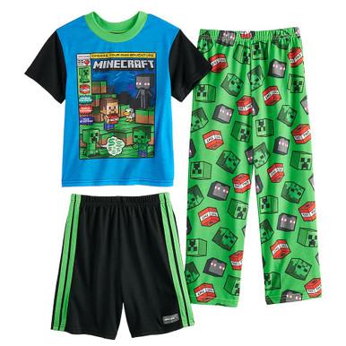 MINECRAFT Flannel PJs Pajamas  Boys Sizes 6 STEVE ALEX CREEPER ENDERMAN