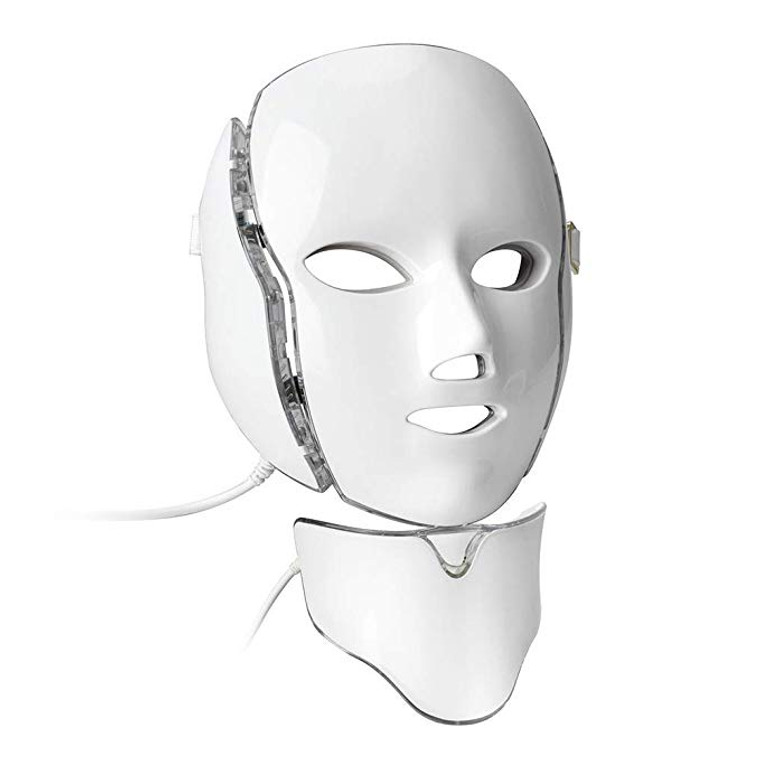 LED Beauty Mask with neck piece. 192 LEDs producing a super bright 20W