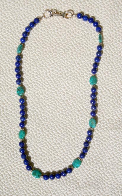 Turquoise Lapis Lazuli and Copper Earrings Malachite
