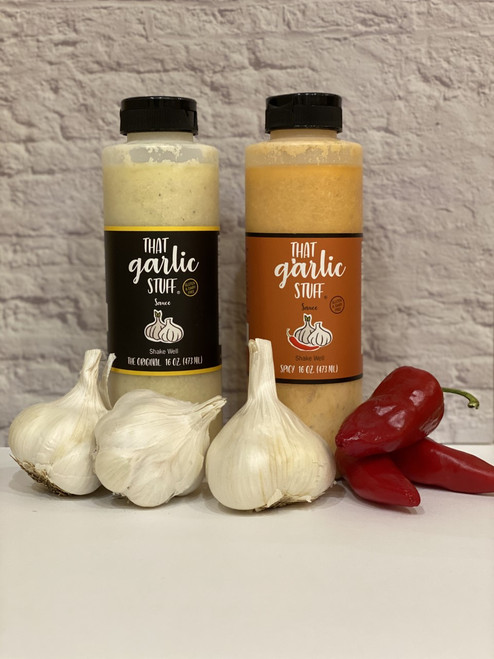 That Garlic Stuff (Mixed): 1 - 16 oz. Original and 1 - 16 oz Spicy