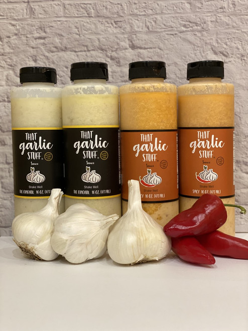 That Garlic Stuff (Mixed): 2 - 16 oz. Original and 2 - 16 oz Spicy