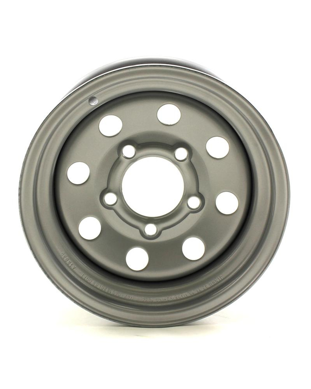 JG 12X4 5//4.5 Silver Heavy Duty Mod Trailer Wheel