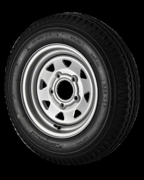 5.30 X 12 LRC 5/4.5 STD Silver Spoke