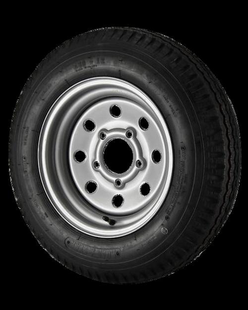 5.30X12 Loadstar Trailer Tire LRC on 5 Bolt Silver Mod Wheel